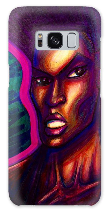 Galaxy S8 Case featuring the mixed media Grace Jones by David Weinholtz