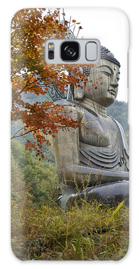 Buddha Galaxy S8 Case featuring the photograph Great Buddha In Autumn by Michele Burgess