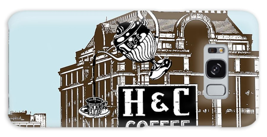 H Galaxy S8 Case featuring the photograph H And C Coffee Sign Roanoke Virginia by Teresa Mucha