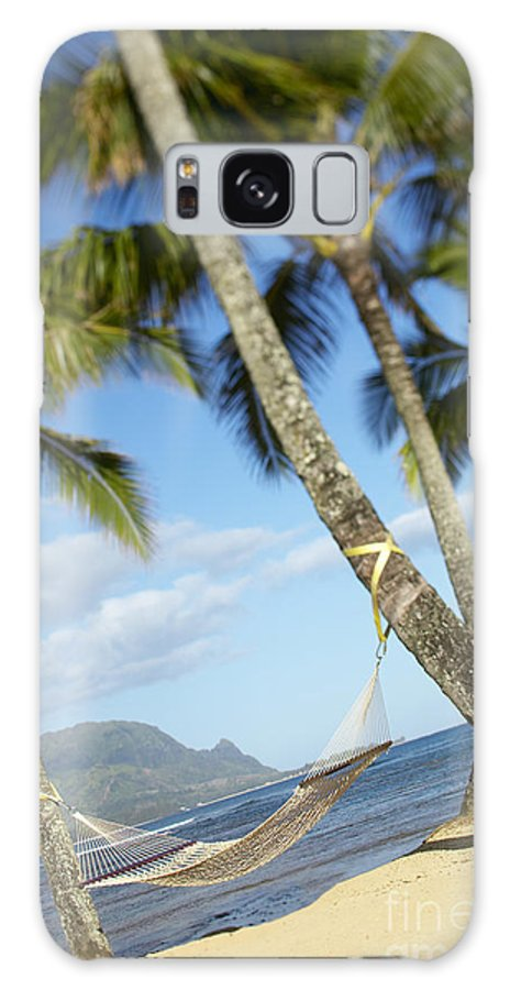 Angle Galaxy S8 Case featuring the photograph Hanalei Bay, Hammock by Kyle Rothenborg - Printscapes