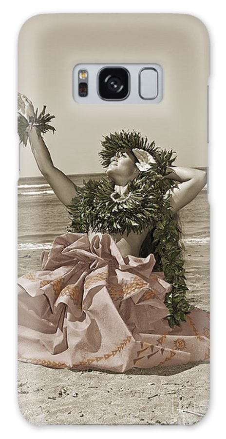 Afternoon Galaxy S8 Case featuring the photograph Hand Colored Hula by Himani - Printscapes