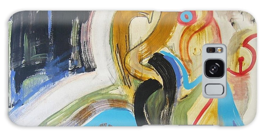 Abstract Art Paintings Galaxy S8 Case featuring the painting Hard To Escape by Seon-Jeong Kim