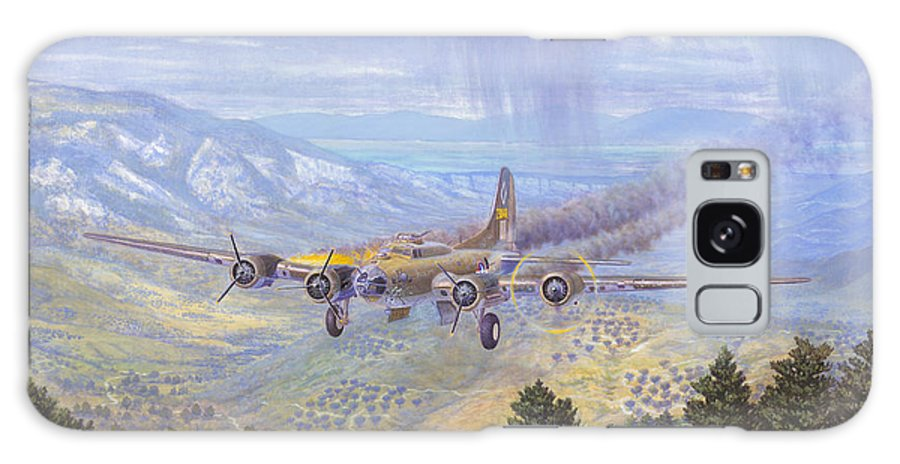 99th Bomb Group Galaxy Case featuring the painting Her Majestys Last Landing by Scott Robertson