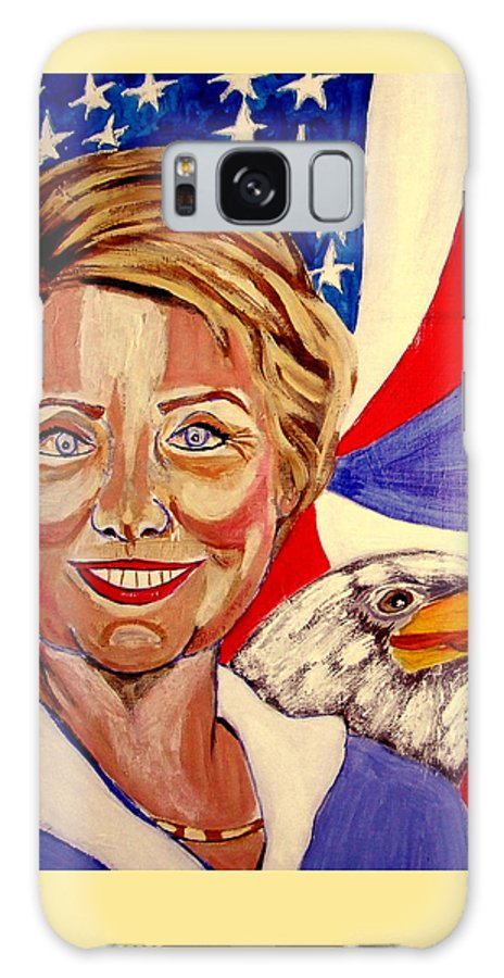 Hillimericks! Presidential Elections Galaxy S8 Case featuring the painting Hillary Clinton by Rusty Gladdish