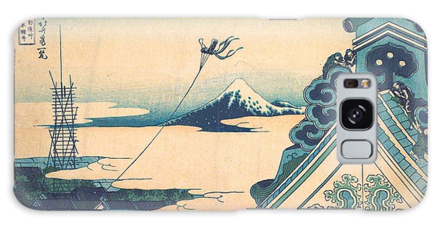 Asia Galaxy Case featuring the painting Honganji At Asakusa In Edo 1 by Katsushika Hokusai