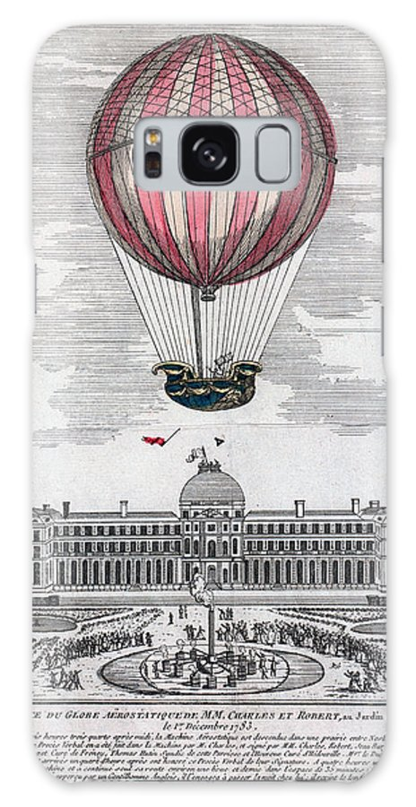 1783 Galaxy S8 Case featuring the photograph Hydrogen Balloon, 1783 by Granger