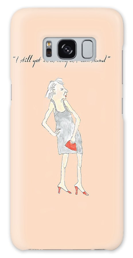 Humor Galaxy S8 Case featuring the digital art I Still Got It by Heather Hennick