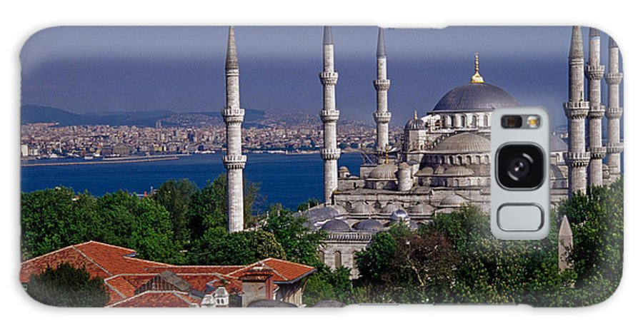 Turkey Galaxy S8 Case featuring the photograph Istanbul's Blue Mosque by Michele Burgess