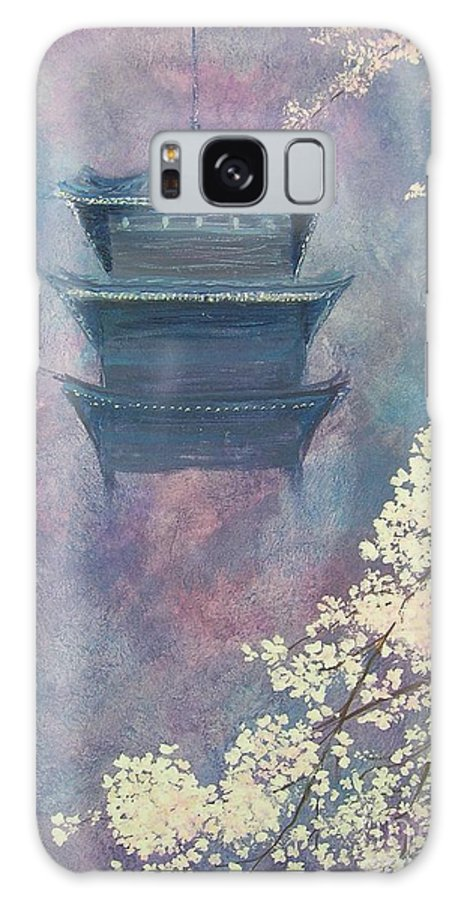 Landscape Japan Galaxy S8 Case featuring the painting Japanese Spring Scene by Lizzy Forrester