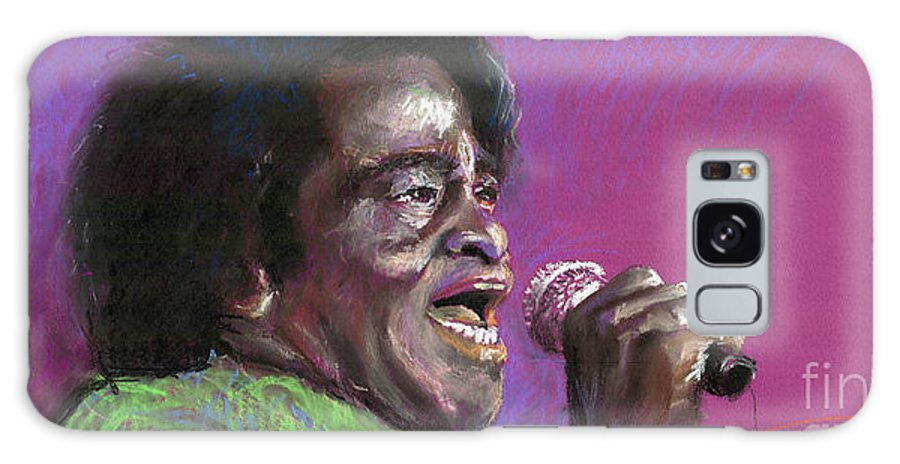 Jazz Galaxy S8 Case featuring the painting Jazz. James Brown. by Yuriy Shevchuk