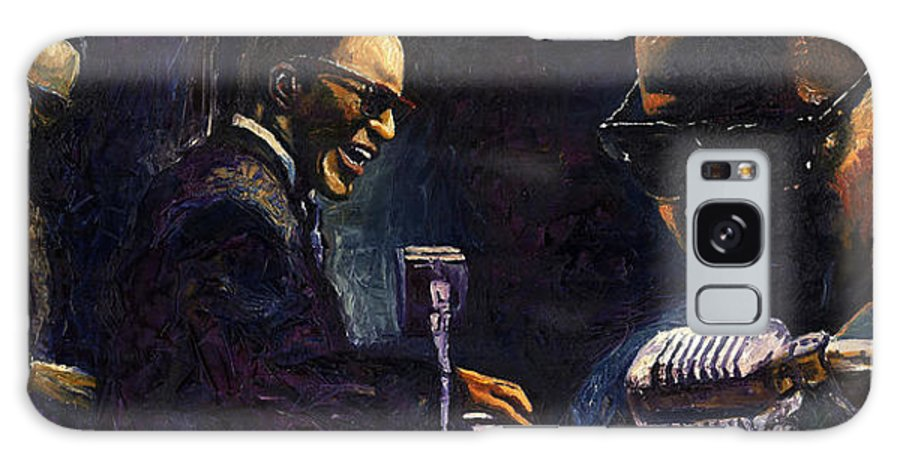 Jazz Galaxy Case featuring the painting Jazz Ray Charles by Yuriy Shevchuk