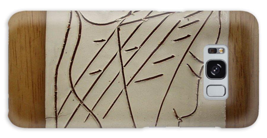 Jesus Galaxy S8 Case featuring the ceramic art Jesus - Tile by Gloria Ssali