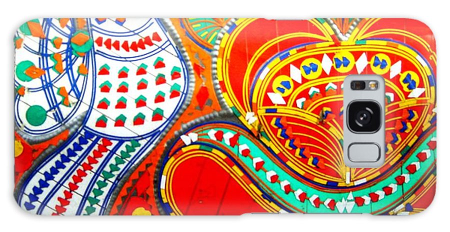 Fantasy Folk Art Galaxy S8 Case featuring the painting Jinga Bird by Fareeha Khawaja