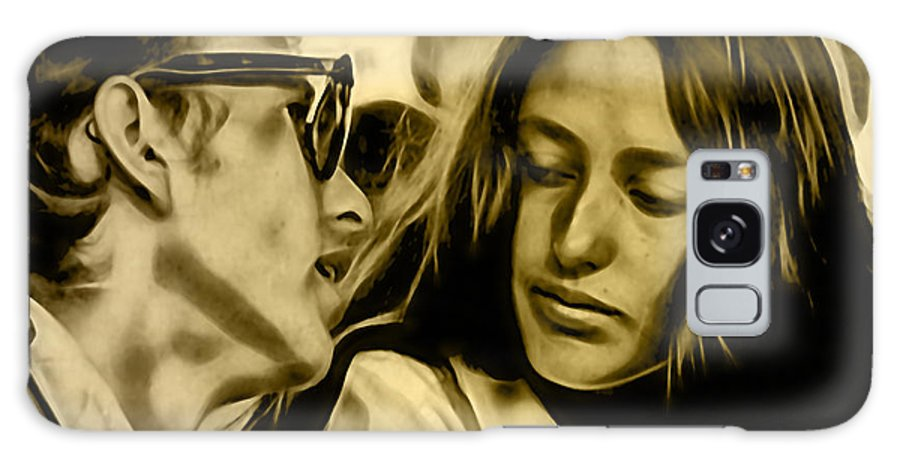 Joan Baez Galaxy S8 Case featuring the mixed media Joan Baez With Bob Dylan by Marvin Blaine