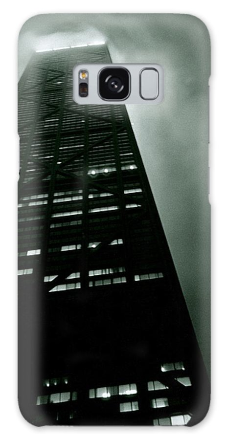 Geometric Galaxy S8 Case featuring the photograph John Hancock Building - Chicago Illinois by Michelle Calkins