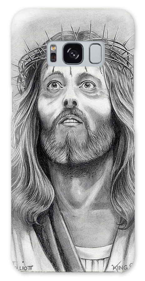 Jesus Christ Galaxy Case featuring the drawing King Of Kings by Murphy Elliott