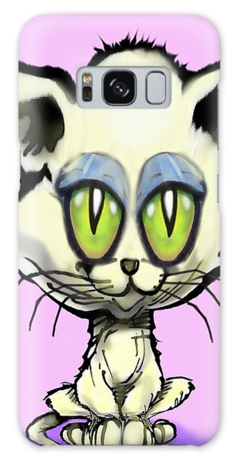 Kitten Galaxy S8 Case featuring the digital art Kitten by Kevin Middleton