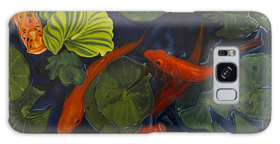 Painting Galaxy Case featuring the painting Koi Ballet by Peter Muzyka