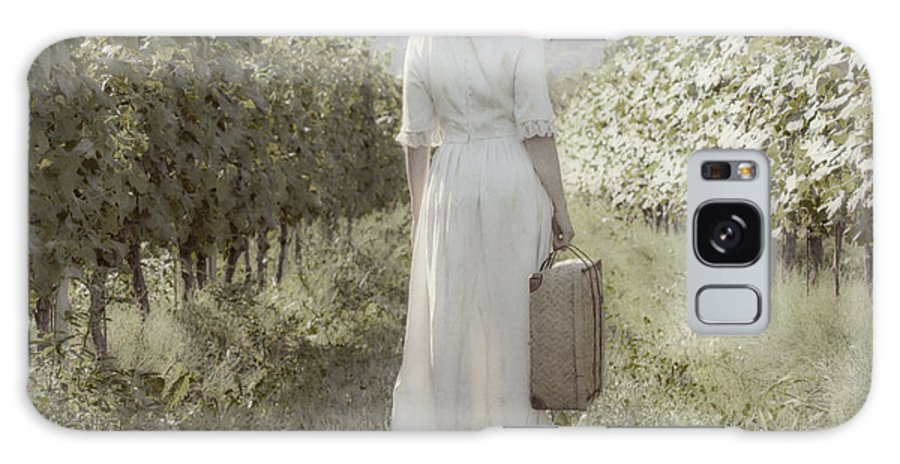 Female Galaxy S8 Case featuring the photograph Lady In Vineyard by Joana Kruse