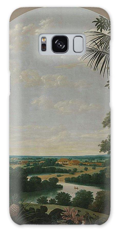 Landscape In Brazil. 1652 Frans Jansz. Post Galaxy S8 Case featuring the painting Landscape In Brazil by Frans Jansz