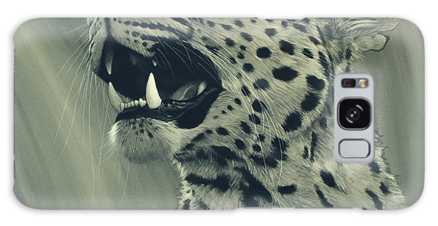 Leopard Galaxy S8 Case featuring the digital art Leopard Portrait by Aaron Blaise