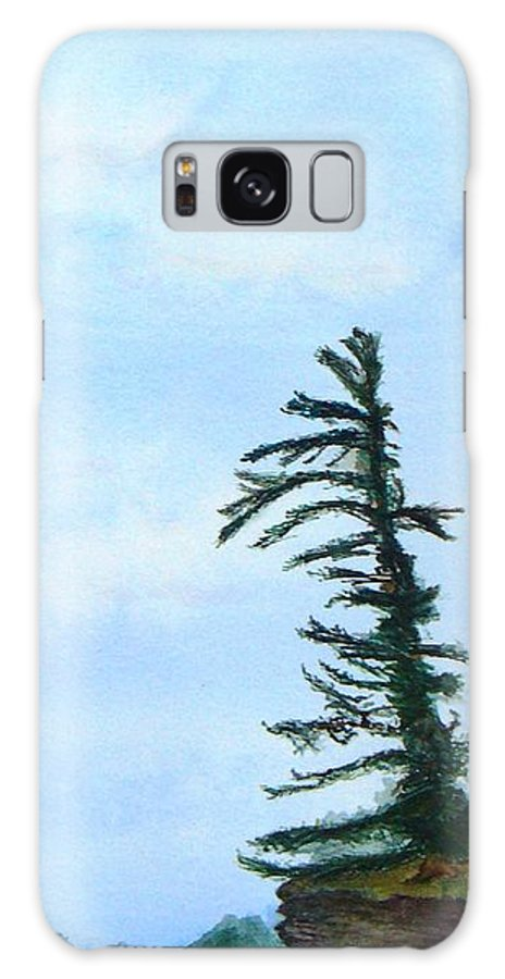 Tree Galaxy Case featuring the painting Lone Sentinel by Peggy King