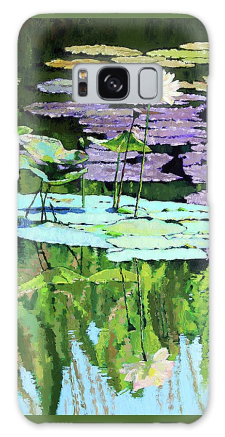 Lotus Galaxy Case featuring the painting Lotus Reflections by John Lautermilch