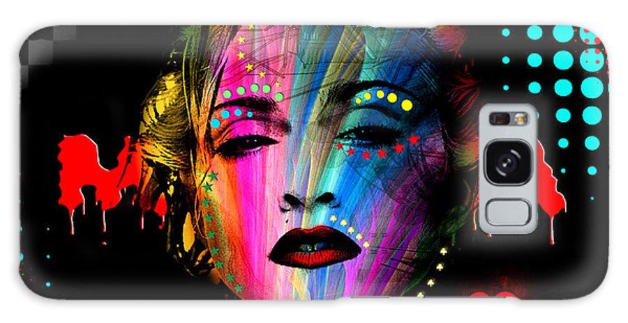 Pop Stars Galaxy Case featuring the digital art Madonna by Mark Ashkenazi