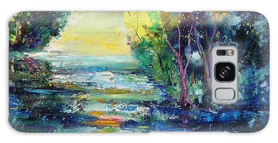 Pond Galaxy Case featuring the painting Magic Pond by Pol Ledent