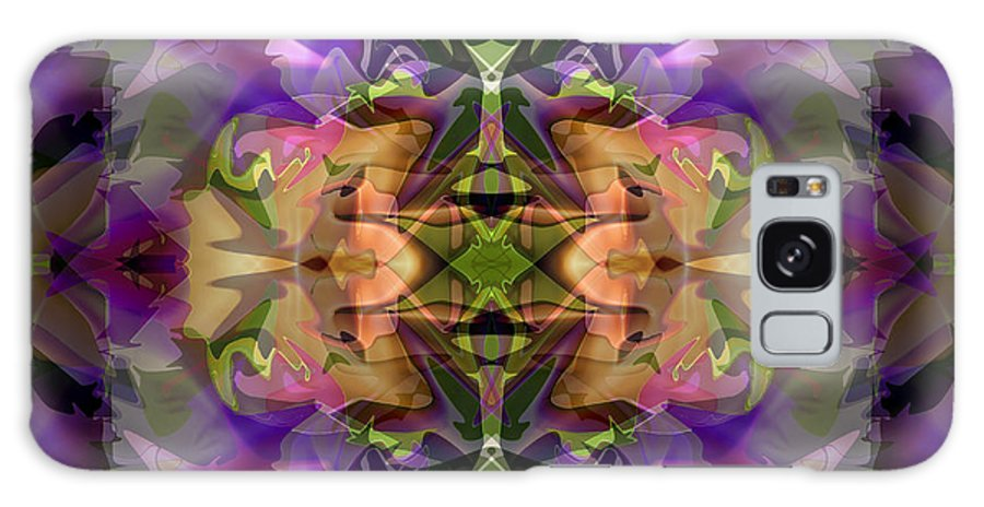Abstract Galaxy S8 Case featuring the digital art Mind Portal by Lynda Lehmann