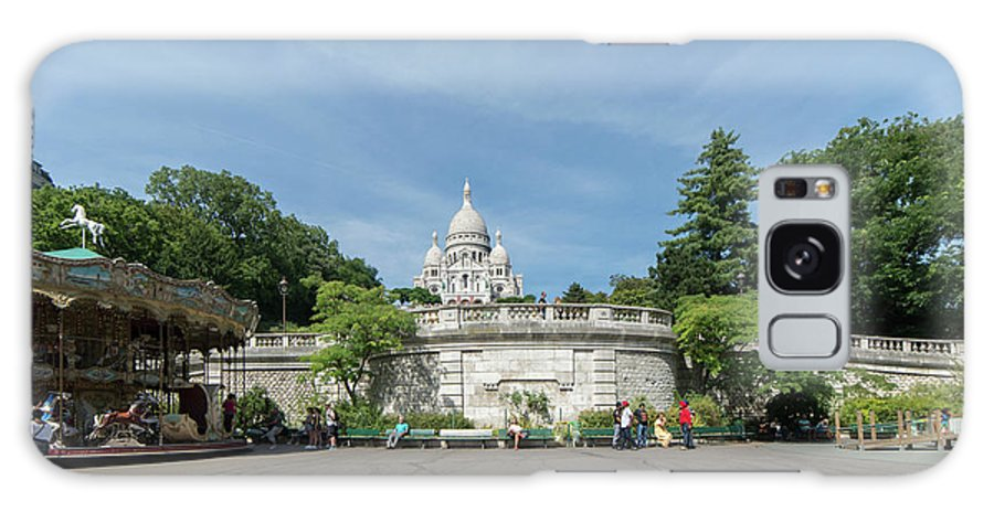 Cathedral Galaxy S8 Case featuring the digital art Montmarte Paris Sacre-coeur by Carol Ailles