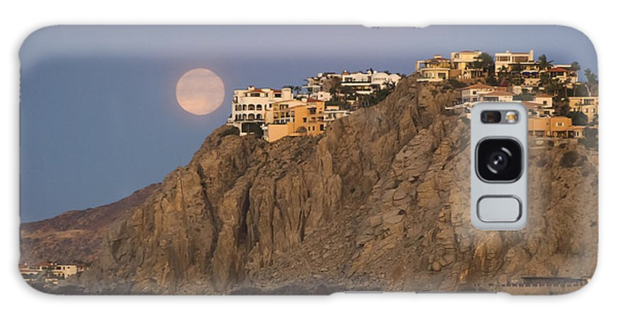 Frankie Grant Photography Galaxy S8 Case featuring the photograph Moonset Over Pedregal by Frankie Grant