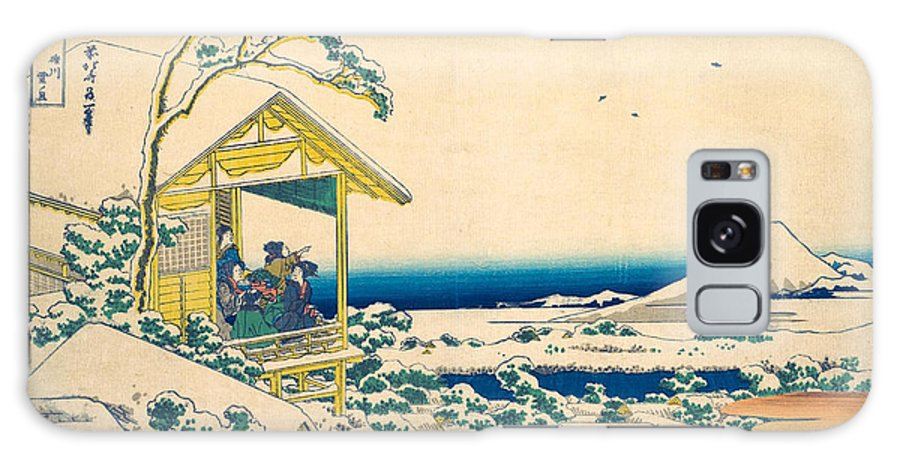 Asia Galaxy Case featuring the painting Morning After The Snow At Koishikawa In Edo 1 by Katsushika Hokusai
