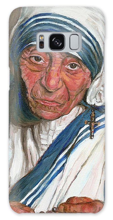 Mother Teresa Galaxy S8 Case featuring the painting Mother Teresa by Carole Spandau