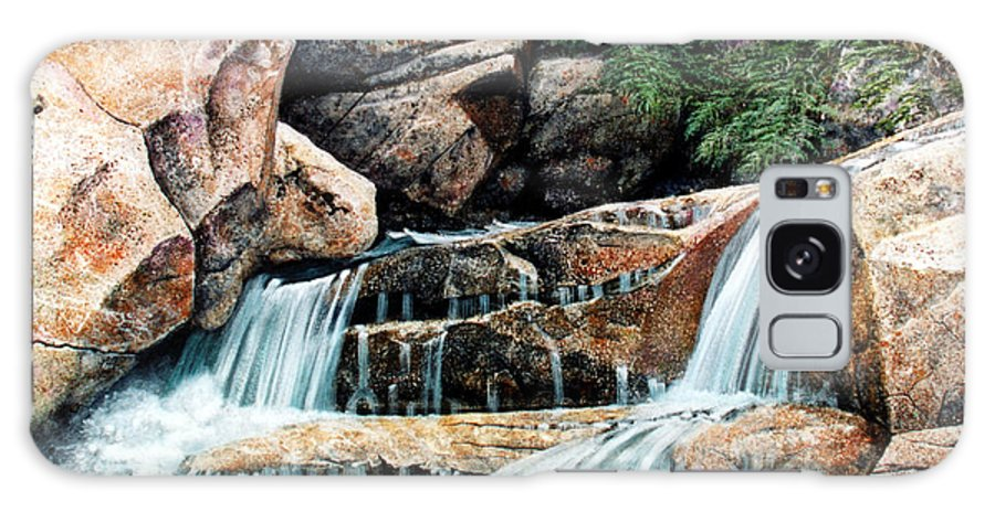Landscape Galaxy Case featuring the painting Mountain Stream by Frank Wilson