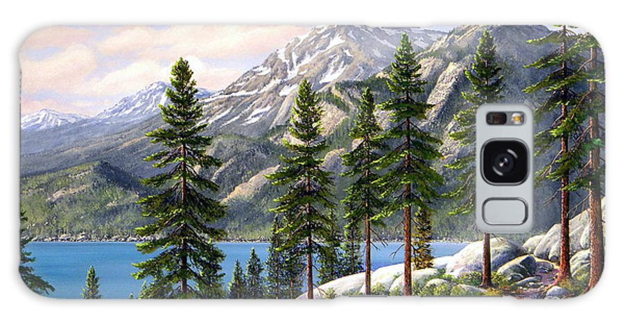 Landscape Galaxy Case featuring the painting Mountain Trail by Frank Wilson