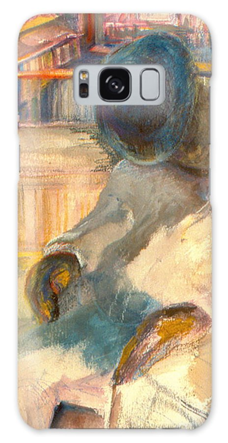 Watercolor Galaxy S8 Case featuring the painting Mr Hunters Porch by Daun Soden-Greene