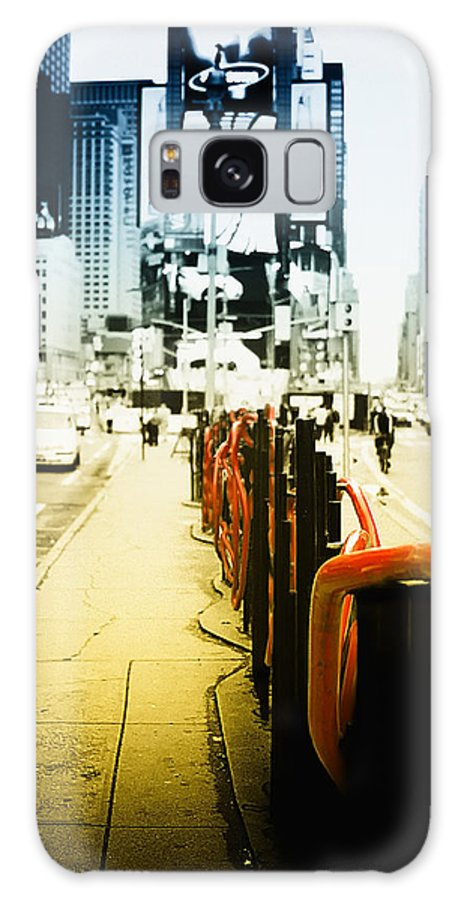 New York Times Square Galaxy S8 Case featuring the photograph New York Times Square by Dapixara Art
