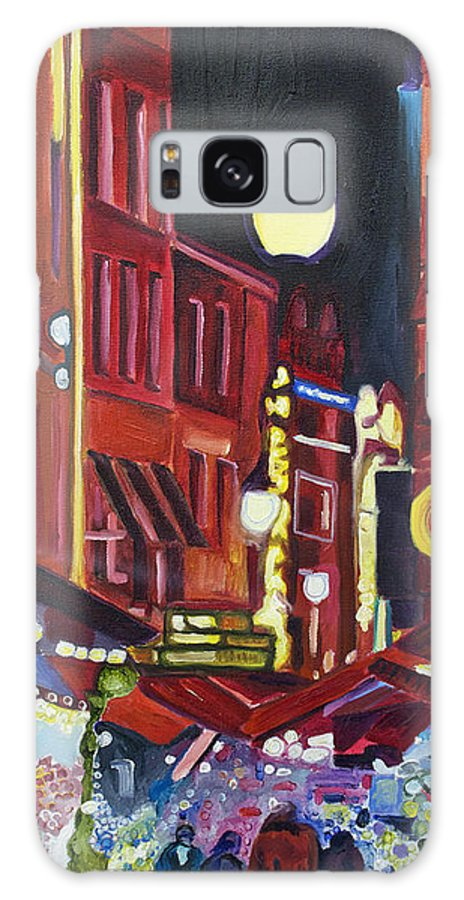 Europe Galaxy S8 Case featuring the painting Night Market by Patricia Arroyo