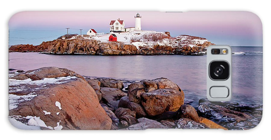 Cape Neddick Light Galaxy S8 Case featuring the photograph Nubble Winter Dusk by Susan Cole Kelly