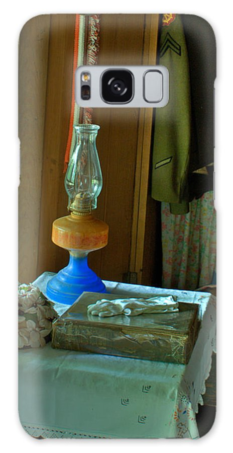 Oil Galaxy Case featuring the photograph Oil Lamp And Bible by Douglas Barnett