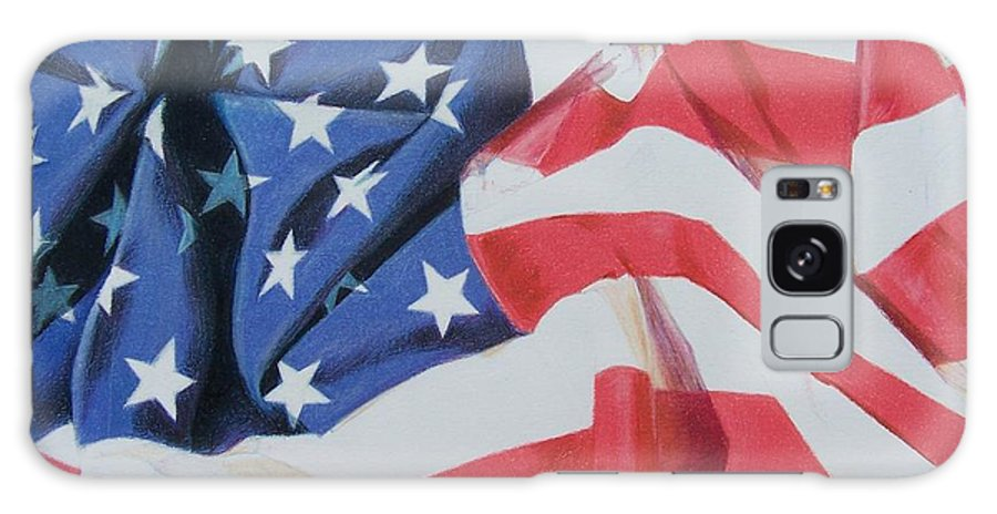 Flag Galaxy S8 Case featuring the mixed media Old Glory by Constance Drescher