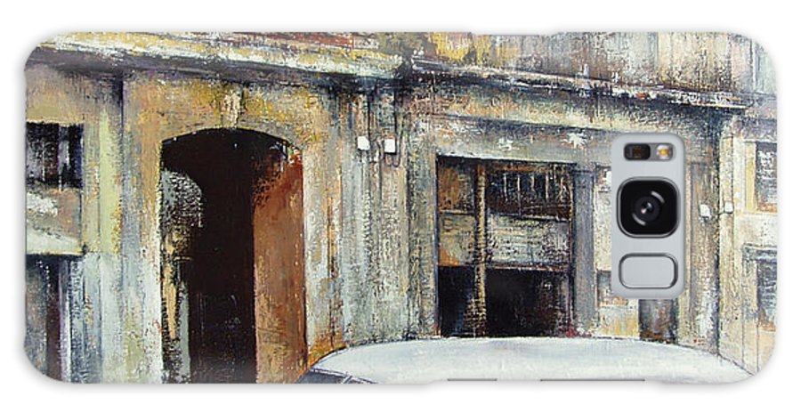 Old Havana Galaxy Case featuring the painting old Havana by Tomas Castano