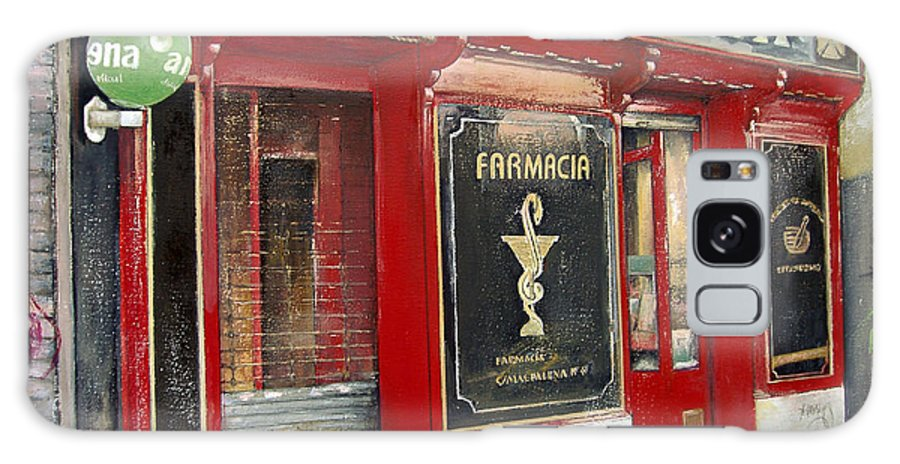 Farmacia Galaxy S8 Case featuring the painting Old Pharmacy by Tomas Castano