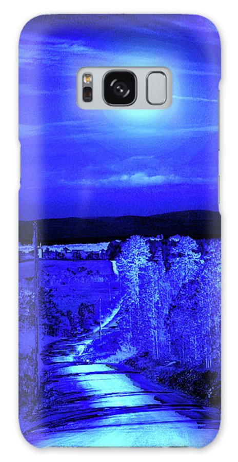 Blue Galaxy S8 Case featuring the photograph On A Cold Cold Night by Nina Fosdick
