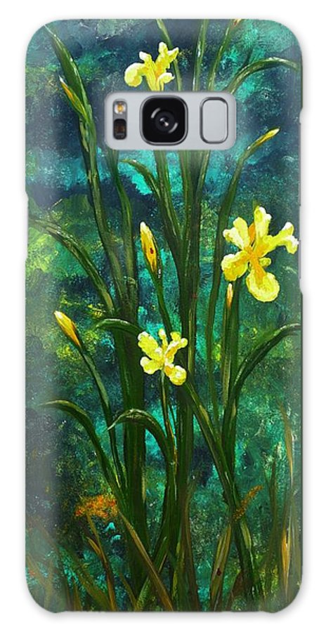 Water Galaxy S8 Case featuring the painting On The Edge Of The Pond by Patti Bean