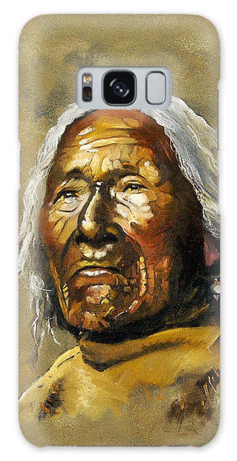 Southwest Art Galaxy S8 Case featuring the painting Painted Sands Of Time by J W Baker