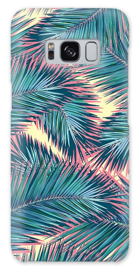 Palm Trees Galaxy Case featuring the digital art Hello Summer by Mark Ashkenazi