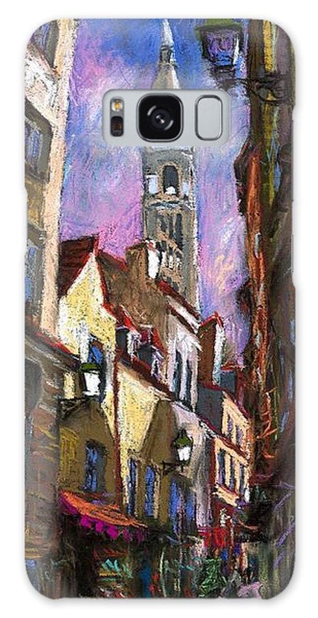 Pastel Galaxy S8 Case featuring the painting Paris Montmartre by Yuriy Shevchuk