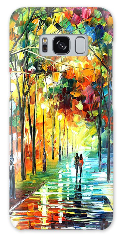 Landscape Galaxy S8 Case featuring the painting Park by Leonid Afremov